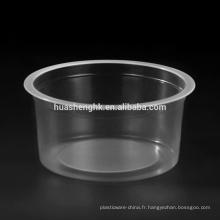 Coupe en plastique jetable de crème glacée en plastique jetable rond de pp 8oz de catégorie com
