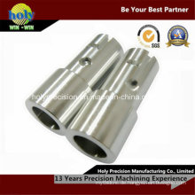Gewohnheit 4 Achsen-CNC, der Aluminiumverbindungsstück mit Bohrloch maschinell bearbeitet
