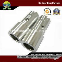 Conector de alumínio fazendo à máquina do CNC da linha central do costume 4 com furo de perfuração