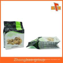 Kundenspezifische Plastikflache Bodennussbeutel für die Verpackung mit Reißverschluss
