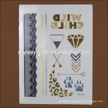fake high quality diamond body jewelry tattoo sticker