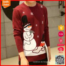 Gewohnheit strickte Schneemänner Muster Pullover Herren Weihnachtsbrücken