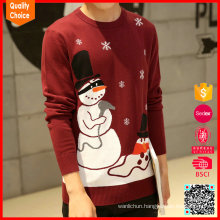 Custom knitted snowmen patterns sweaters mens christmas jumpers