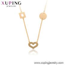 44919 coração xuping cobre Ambiental 18k colar banhado a ouro