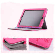 Pink Pu Cute Pda Leather Cases , Leather Carrying Bag For Ipad 4