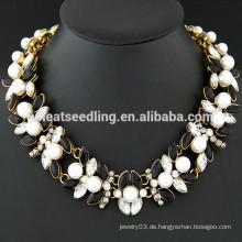 Yiwu Großhandel Markt barock Perlen Halskette Halsband für Frauen
