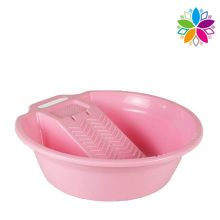Fashion Design Plastic Washing Basin with Washboard (SLP031)