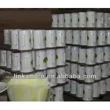Haonai vente chaude 23 oz tasse de bière en céramique en céramique blanche avec logo
