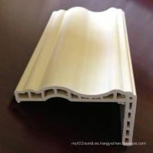 WPC Architrave at-68h12b WPC marco de puerta PVC Architrave puerta laminada