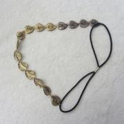Folha de ouro romântico Headband Hairpin jóias cristal loja jóias de cabelo