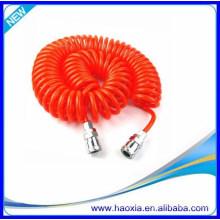 Tubo neumático del resorte de la PU 12X8 con el ajuste para fácil