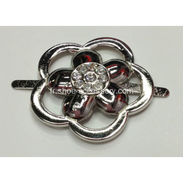 Flower Design Alliage Rhinestone Lady Shoe Buckle
