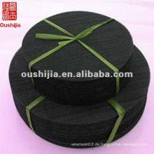 Niedriger Preis schwarzes Quadrat / rundes Drahtgeflecht (Herstellung)