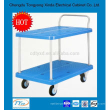 2014 newest double layer custom heavy duty platform trolley