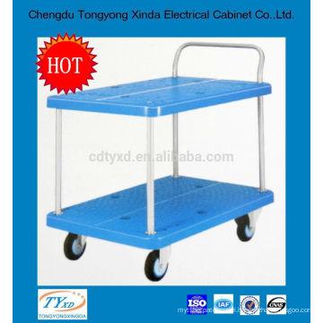 2014 newest double layer custom heavy duty platform trolley