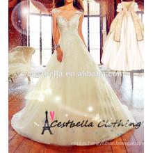Элегантный бальное платье свадебное платье с длинным хвостом длинным шлейфом