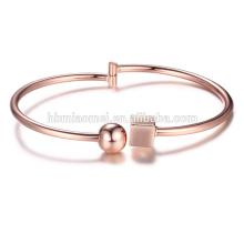 2017 vente chaude cuivre bracelet à breloques en platine avec des femmes bijoux de mode diamant