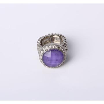 Stretch Modeschmuck Ring mit Harz Stein und Strass