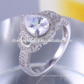 Plating champagne gold 925 sun silver ring with blue stone