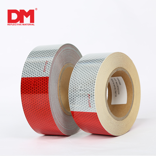 Red and White adhesive DOT-C2 Reflective Tape for truck