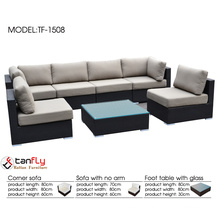 Classy outdoor sectional seating wicker sofa furniture malaysia.