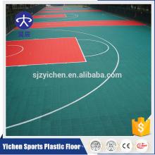 Élastique non toxique recyclé en plein air terrain de basket-ball
