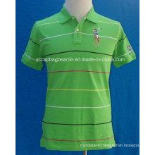 Men′s Casual Striped Polo Shirt