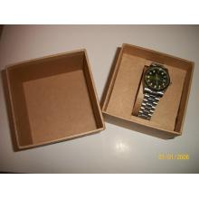Caixa de relógio de pulso de couro falso preto para embalagem de relógios