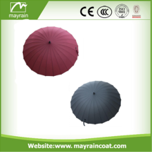 Colourful Plastic Handle Straight Umbrella