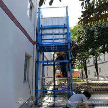 Gold factory supply outside portable guide rail building construction elevator lift equipment