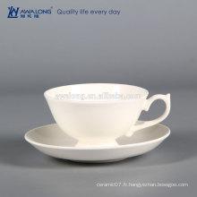 Tasse en couleur blanche pour café, tasse à café personnalisée, tasse à café sans couvercle