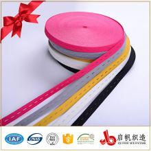 Hohe Qualität farbige Öse Gummiband Knopfloch gestrickte Bänder
