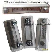 Indicateur de niveau d'huile mécanique Ywz avec indicateur de température
