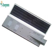 Luz de calle solar integrada 40W con sensor de movimiento