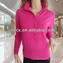 13STC5091 ladies cashmere sweater stand collar