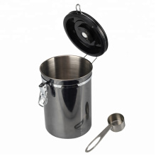Airtight Coffee Container With Window and Spoon
