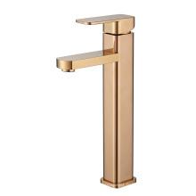 Robinet de lavabo mélangeur de salle de bain monté sur le pont à une poignée