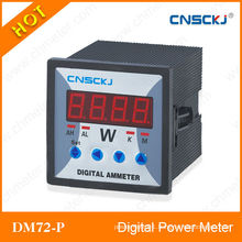 72*72mm RS485 communication single phase digital power meter