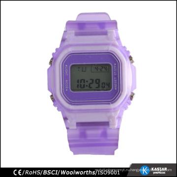 Спортивные часы с разноцветными браслетами 3 ATM с будильником