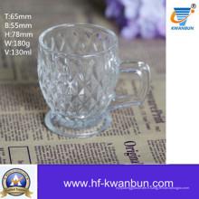 Tasse à thé en verre pour la bière ou la boisson de la coupe de café Kb-Jh6030