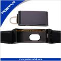 Reloj de pulsera impreso con logotipo del cliente de reloj de pulsera de puro color genuino de la serie Lether Band