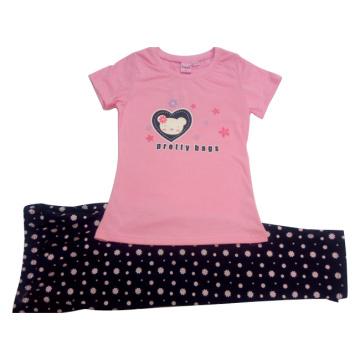El traje de verano de Baby Girl para niños usa