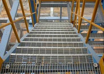 stair tread construction site