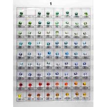 Tabla de colores de vidrio A1