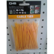 Yellow Nylon Zip Tie of 100PCS/Bag