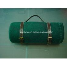Fleece-Decke mit PU-Halter (SSB0200)