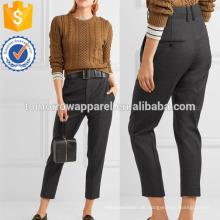 Tonal-graue Wolle Tapered Hose? Herstellung Großhandel Mode Frauen Bekleidung (TA3038P)