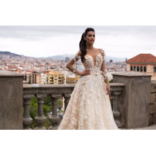 High Quality Lace Pearl Ball Wedding Dress Bridal Gown