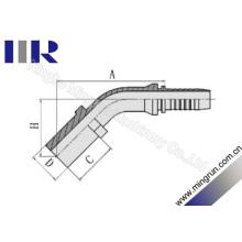 Raccord de tuyau de tuyauterie métrique de coude de 45 degrés (50041)