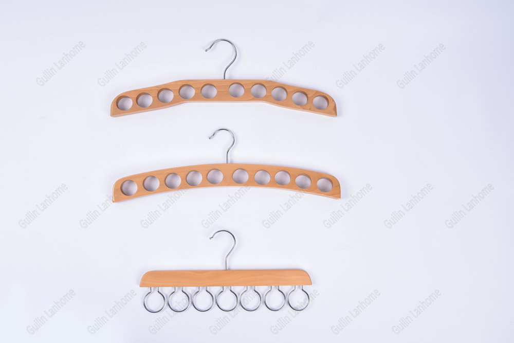 Wood Scarf Hanger with Holes